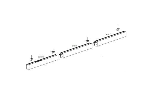 Galvin Linear Lights - Continuous assembly: START/CONT/END
