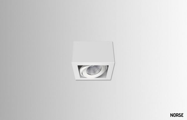 Claude-square-downlight-225mm-White